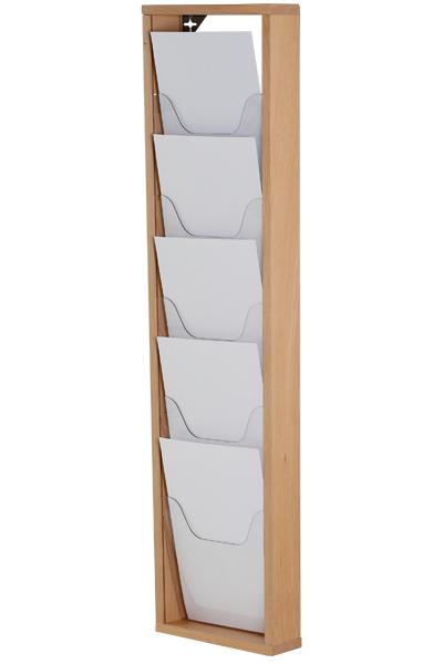 Wooden Brochureholder Wall