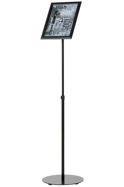 Infostand Telescopic Black
