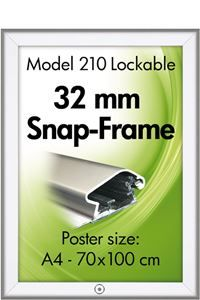 Lockable Snap-Frame, væg, 32 mm
