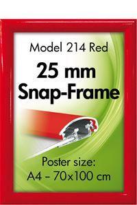 Alu Snap-Frame væg 25 mm rød