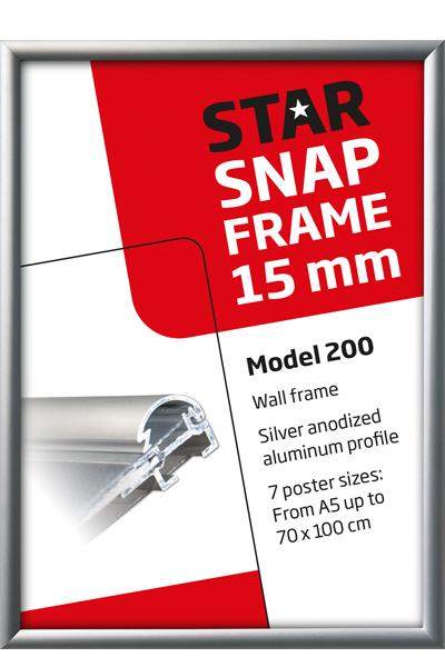 Alu Snap-Frame, væg, 15 mm