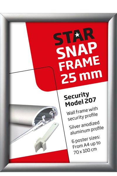 Security Frame, væg, 25 mm