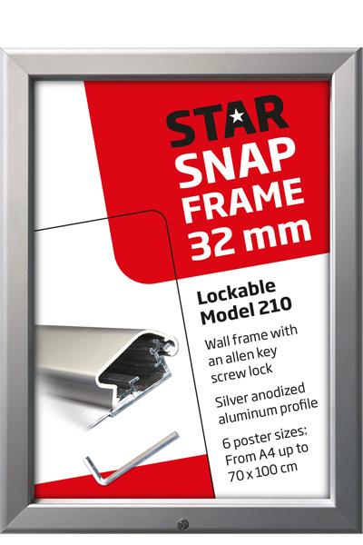 Lockable Snap-Frame, væg, 32 mm