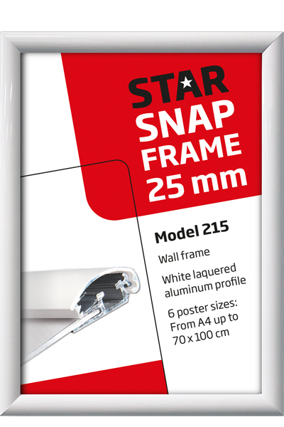 Alu Snap-Frame væg 25 mm hvid