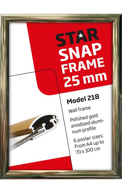 Alu Snap-Frame væg 25 mm guldeloxeret blank