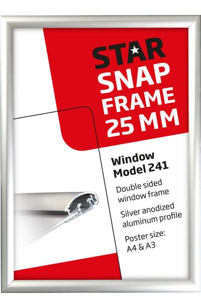 Dobbeltsidet vinduesramme 25 mm