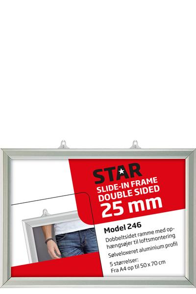 Slide-In Frame 25 mm, horisontal