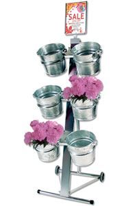 Shop Display with 6 buckets