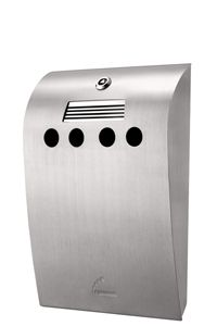 Cigarette Bin Convex Brushed