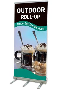 Outdoor Roll-Up,dobbeltsidet