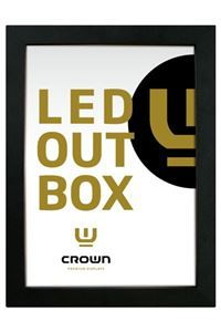CROWN LED Out Box 33 mm, dobbeltsidet