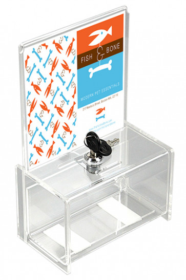 Tip Box Clear with info holder A5