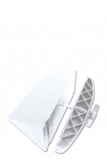 CROWN TRUSS, Shelf Holder - White
