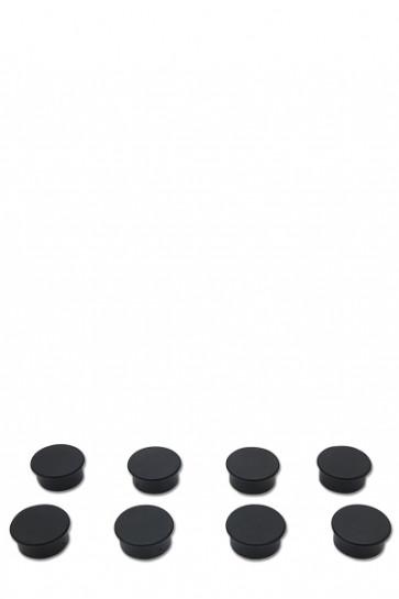Magnets for e.g. White Board. 8 pcs. black