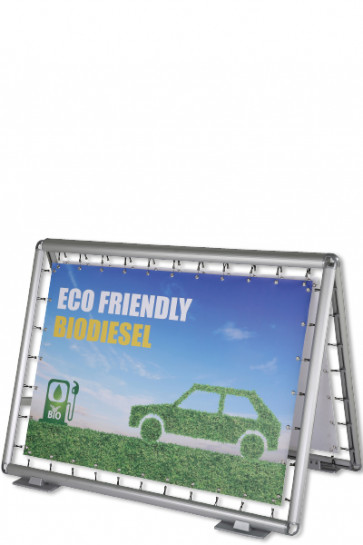 Omni Banner Board, Banner size 150x100cm. Incl. hook with bungee cord. Without eyelets