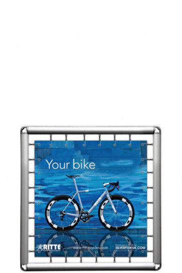 Omni Banner Frame, Banner size 100x100cm. Incl. hook with bungee cord. Without eyelets