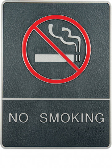 Icon Sign with Text - No Smoking