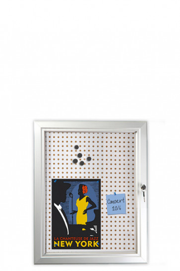 INFOBOX Combi w/lock 45mm 4xA4 Alu