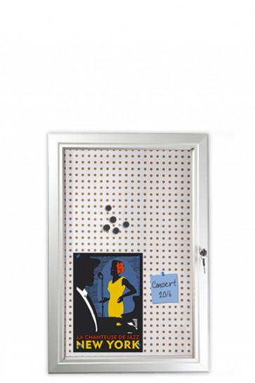 INFOBOX Combi w/lock 45mm 6xA4 Alu