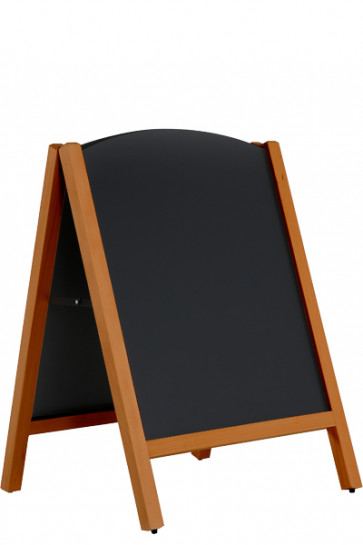 Wooden A-board Bow, Dark Wood, Outdoor, Blackboard 59x78cm