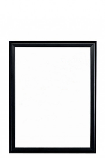 Whiteboard with black frame 40x60cm
