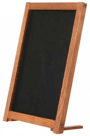 Wooden Table Board with Feet. Dark wood. 21,6x27,9cm
