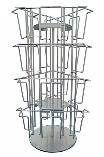 Wireholder Spin Table 24 x A6/M65 Silver