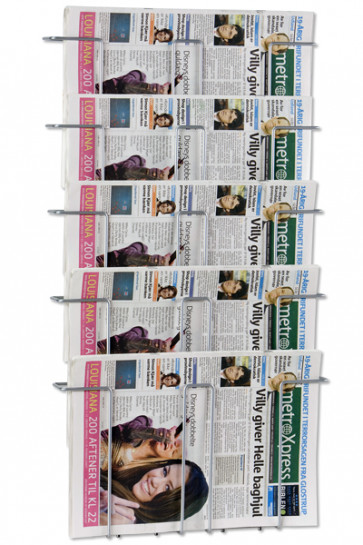 News Paper Wall 5 silver