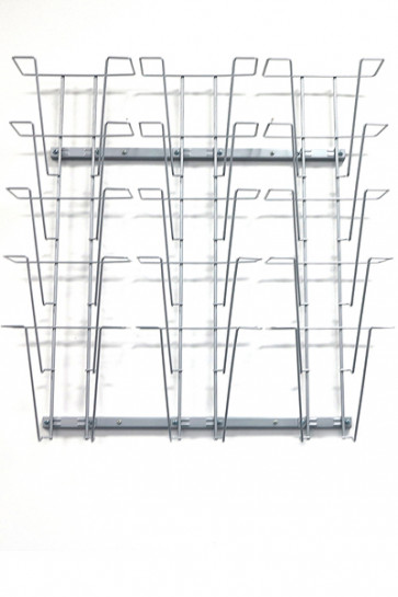Wireholder Wall, 15xA4  silver