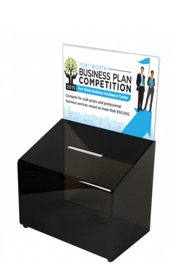 Tip Box Black with Info Holder A5