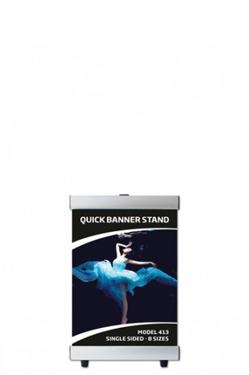 QUICK BANNER STAND A4 single sided