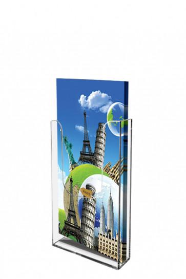 Acrylic Wall Brochureholder M65 clear