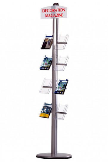 MULTISTAND 20 Single sided, 8 pcs. M65 Shelves + logoplate
