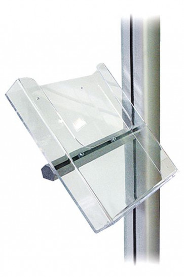 MULTISTAND Acrylic brochure holder with Alu fittings, A4