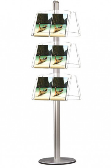 MULTISTAND 6 Doublesided 3 x acryl shelve Alu