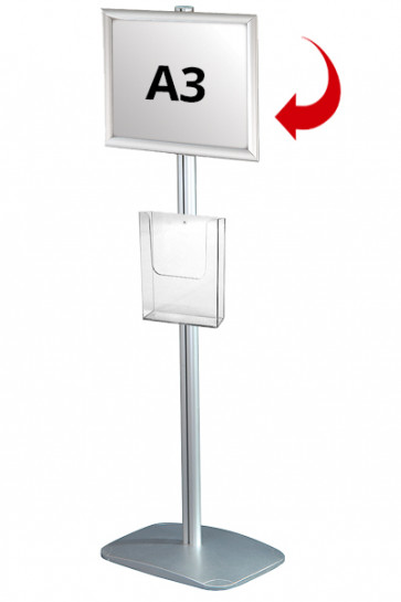 Mini Multistand 3 -Single sided A3 Snap Frame + A4 Brochure holder