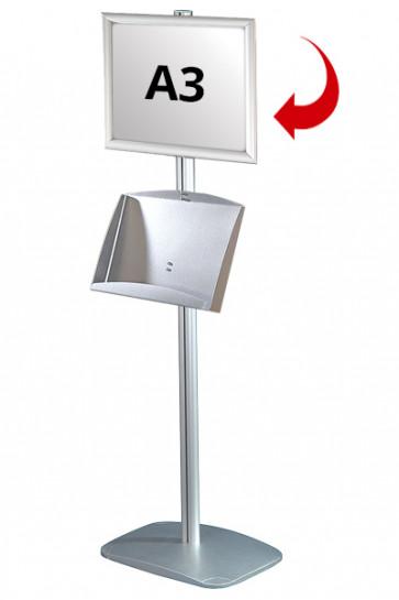 Mini Multistand 5 -Single sided A3 Snap Frame + A3 Steel shelf