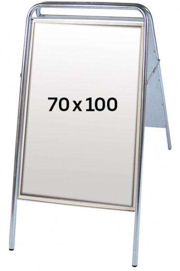 EXPO SIGN pavementboard 22 mm 70x100 cm silver