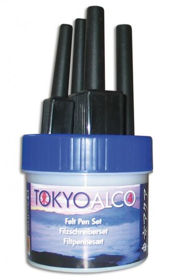 TOKYO ALCO 4 feltpens blue
