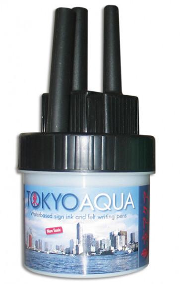 TOKYO AQUA 4 feltpen set  black