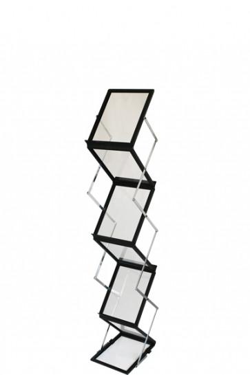 FLEX BROCHURE STAND black,  6 x A5 w/case