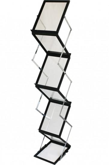 FLEX BROCHURE STAND black, 6 x A4 w/case