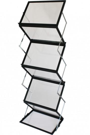 FLEX BROCHURE STAND black 6 x A3 w/case