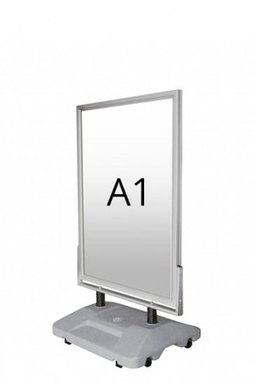 WIND-SIGN WATERBASE pavement board 45mm (G) A1 alu