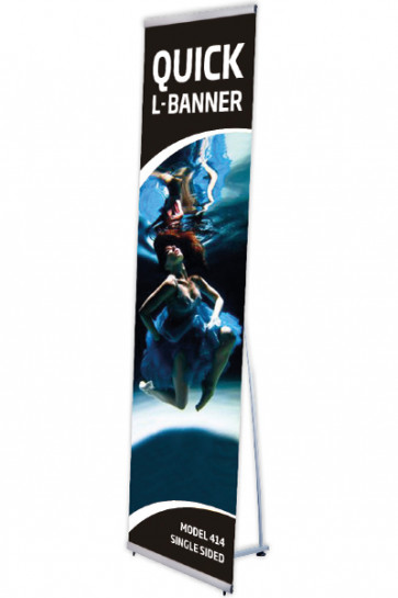 Quick L-Banner, single  40x200cm alu