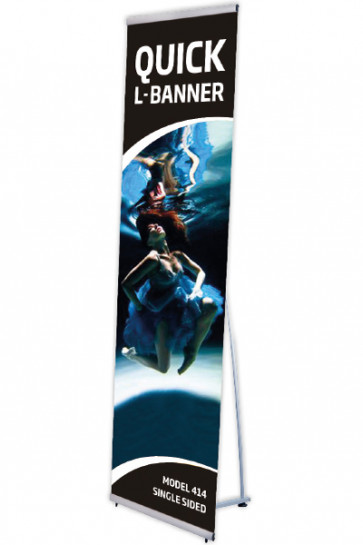 Quick L-Banner, single  50x200cm alu