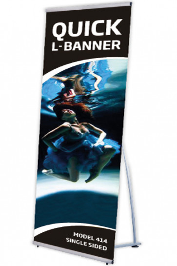 Quick L-Banner, single  100x200cm alu