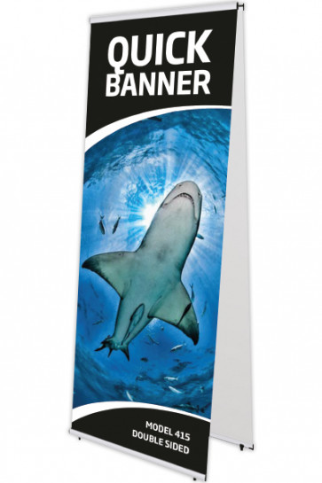 QUICK BANNER double sided 100x200cm alu