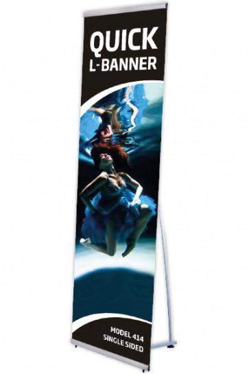 Quick L-Banner, single 60x200cm alu