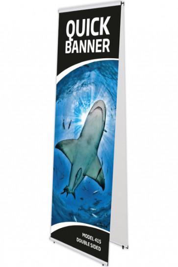 QUICK BANNER double 60x200cm alu